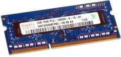 HMT325S6BFR8C-H9   Hynix 2GB (1X2GB) 1333MHz PC3-10600S CL9 1.5V Single Rank X8 non-ECC Unbuffered DDR3 SDRAM 204-Pin SoDIMM Memory Module